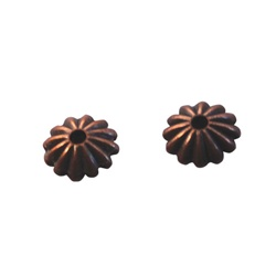Bead Cap Fluted 6mm
