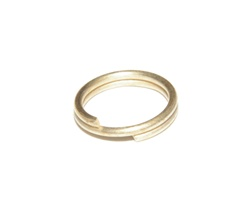 Split Ring 8mm Matte Gold
