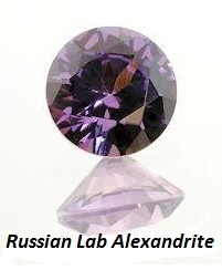 GF Ear Studs with 2, Round Russian Alexandrite