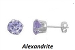 SS Ear Studs with 2 Round Russian Alexandrite