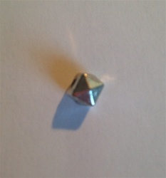 Cube Bead 5mm Pewter
