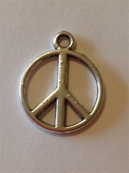 Charm Peace Sign Pewter