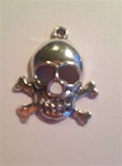 Charm Skull and Cross Bones 20x10mm
