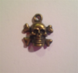 Charm Skull and Cross Bones