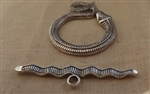 Toggle Pewter Snake Design 3 sets