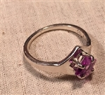 SS Side-Set Square Alexandrite Ring Setting