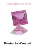 SS Side-Set Square Pink Sapphire Ring Setting