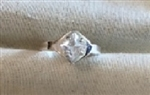 SS Side-Set Square White Sapphire Ring Setting